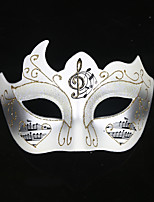 cheap -Cosplay Mask Venetian Mask Adults' Women's Cosplay Party Masquerade Halloween Carnival Easter Festival / Holiday Plastics White / Black / Purple Women's Men's Easy Carnival Costumes Color Block