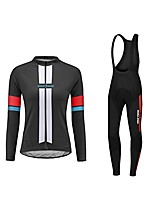 cheap -women thermal fleece cycling jersey suits winter long road bike mtb set outdoor sports bicycle clothing 3d gel padded pants trousers breath warm windproof