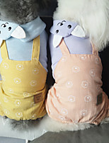 cheap -Dog Cat Shirt / T-Shirt Jumpsuit Bowknot Basic Adorable Cute Dailywear Casual / Daily Dog Clothes Puppy Clothes Dog Outfits Breathable Pink Gray Costume for Girl and Boy Dog Cotton S M L XL XXL