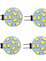cheap -4pcs 2 W LED Bi-pin Lights 260 lm G4 9 LED Beads SMD 5730 Warm White Natural White White 9-30 V
