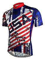 cheap -new pro full zipper men's cycling jersey short sleeve riding shirt usa