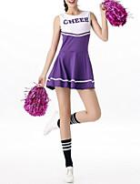 cheap -Women's Sports Dress Short Mini Dress Black Blue Purple Red Blushing Pink Green Sleeveless Letter Print Summer Round Neck Casual 2021 One-Size