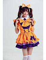 cheap -Lolita Cute Dress Women's Japanese Cosplay Costumes Orange Solid Color