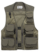 cheap -Men's Hiking Vest / Gilet Fishing Vest Military Tactical Vest Sleeveless Outerwear Vest / Gilet Top Outdoor Quick Dry Lightweight Breathable Sweat wicking Autumn / Fall Spring Summer Chinlon Polyester
