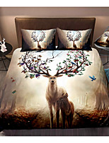 cheap -3-Piece Duvet Cover Set Hotel Bedding Sets Comforter Cover with Soft Lightweight Microfiber, Include 1 Duvet Cover, 2 Pillowcases for Double/Queen/King(1 Pillowcase for Twin/Single)