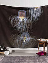 cheap -Wall Tapestry Art Decor Blanket Curtain Hanging Home Bedroom Living Room  Novelty Jellyfish Animal