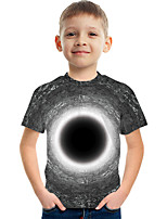 cheap -Kids Boys' Tee Short Sleeve Graphic Children Tops Active Gray