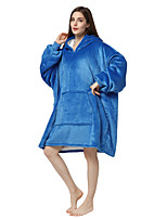 cheap -Adults' Kigurumi Pajamas Blue Onesie Pajamas Flannel Fabric Ink Blue Cosplay For Men and Women Animal Sleepwear Cartoon Festival / Holiday Costumes