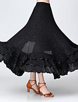 cheap -Ballroom Dance Skirts Paillette Women's Performance Daily Wear High Polyester