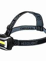 cheap -COB Spotlight Super Bright Battery Operated Spotlight Head-Mounted Flashlight For Hunting Camping Fishing (Schwatz)