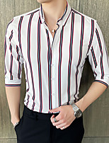 cheap -Tuxedos Slim Fit Single Breasted More-button Spandex / Polyester Stripes