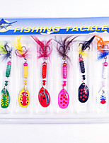 cheap -6 pcs Fishing Lures Spinnerbaits Bass Trout Pike Lure Fishing