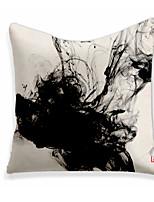 cheap -Double Side 1 Pc Art Deco Cushion Cover  Print 45x45cm Linen for Sofa Bedroom