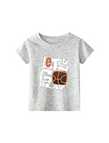 cheap -Kids Boys' T shirt Short Sleeve Black & White Graphic Daily Wear Print Children Children's Day Summer Tops Active Regular Fit Black Blue Red 2-9 Years