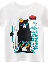 cheap -Kids Boys' T shirt Tee Short Sleeve Animal Casual / Daily Outdoor Print Children Summer Spring & Summer Tops Streetwear Beige 2-8 Years