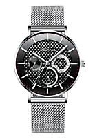 cheap -Men's Dress Watch Analog Quartz Stylish Calendar / date / day / One Year / Stainless Steel / Titanium Alloy