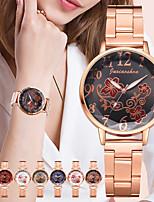 cheap -Women's Steel Band Watches Analog - Digital Quartz Floral Style Fashion Creative