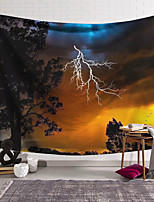 cheap -Wall Tapestry Art Decor Blanket Lightning Curtain Hanging Home Bedroom Living Room Decoration and Psychedelic and Floral Theme