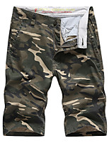 "cheap -Men's Hiking Shorts Hiking Cargo Shorts Camo Outdoor 10"" Breathable Multi-Pockets Wear Resistance Cotton Shorts Army Green Dark Blue Hunting Fishing Climbing 29 30 35 36 38"