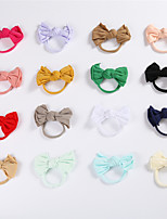 cheap -1pcs Infant Unisex Active Daily Wear White Solid Colored Bow Nylon Hair Accessories White / Black / Purple One-Size