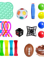 cheap -Squishy Toy Throwing Toy Push Pop Bubble Sensory Fidget Toy Stress Reliever 19 pcs Mini Football Rugby Creative Transformable Cute Stress and Anxiety Relief Fun Strange Toys Decompression Toys Funny
