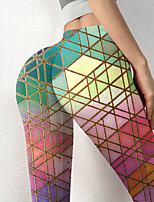 cheap -Women's Colorful Novelty Comfort Leisure Sports Weekend Leggings Pants Color Block Geometry Ankle-Length Sporty Elastic Waist Print Blushing Pink