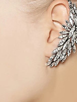 cheap -Women's Hoop Earrings Classic Petal Stylish Trendy Earrings Jewelry Silver For Party Wedding 1pc