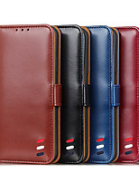cheap -Phone Case For Samsung Full Body Case Leather Wallet Card S21 S21 Plus S21 Ultra Galaxy A32 Galaxy A42 S20 S20 Plus S20 ultra S20 FE 5G Note 20 Ultra Wallet Shockproof Dustproof Solid Colored PU