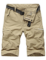 "cheap -Men's Hiking Shorts Hiking Cargo Shorts Military Solid Color Summer Outdoor 10"" Tailored Fit Waterproof Quick Dry Breathable Comfortable Nylon Shorts Army Green Burgundy Dark Gray Khaki Royal Blue"
