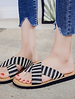 cheap -Women's Sandals Boho Bohemia Beach Flat Heel Round Toe Rubber Solid Colored Black Red