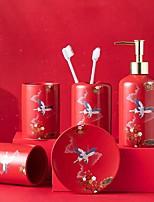 cheap -Set Ceramic Five Fashion Suit Ceramic Sanitary Ware Wash Gargle Toothbrush Rack Life Daily Hotel Household Items