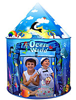 cheap -Play Tent & Tunnel Playhouse Teepee Ocean Theme Foldable Convenient Polyester Gift Indoor Outdoor Party Favor Festival Fall Spring Summer 3 years+ Boys and Girls Pop Up Indoor/Outdoor Playhouse for