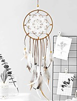 cheap -Dream Catcher Feathers Decoration Traditional Handmade Dream Catcher Hanging Ornament Home Bedroom and Car (Openwork Flower)