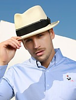cheap -Solid Color Pastoral Straw Hats with Bowknot / Solid 1 Piece Casual / Holiday Headpiece