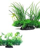 cheap -Fish Tank Aquarium Decoration Fish Bowl Artificial Plants Yellow Artificial Special Material 20 cm