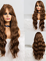 cheap -Synthetic Wig Deep Wave Middle Part Wig Medium Length A1 Synthetic Hair Women's Cosplay Party Fashion Dark Brown