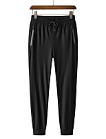 cheap -Men's Hiking Pants Trousers Solid Color Summer Outdoor Regular Fit Quick Dry Breathable High Elasticity Wear Resistance Elastane Bottoms Black Hunting Fishing Climbing M L XL XXL XXXL