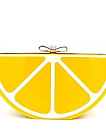 cheap -women acrylic lemon evening bags purses clutch vintage banquet handbag