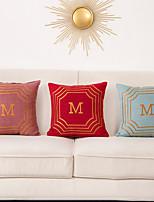 cheap -1 Pc Geometric Cushion Cover 45x45cm Linen for Sofa Bedroom