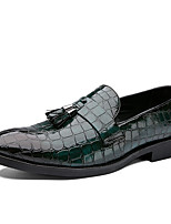 cheap -Men's Loafers & Slip-Ons Dress Shoes Comfort Loafers Penny Loafers Casual British Daily Party & Evening PU Non-slipping Wear Proof Green Black Brown Fall Spring / Tassel / Tassel