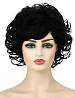 cheap -Synthetic Wig Curly Layered Haircut Short Bob Wig Short Dark Brown Silver grey Black Synthetic Hair Women's Cosplay Party Fashion Black Brown