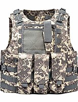 cheap -Hiking Vest / Gilet Fishing Vest Military Tactical Vest Summer Outdoor Quick Dry Lightweight Breathable Sweat wicking Jacket Top Climbing Camping / Hiking / Caving ACU CP Black python pattern Black