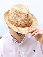 cheap -Fashion Pastoral Straw Hats with Solid / Trim 1 Piece Casual / Holiday Headpiece