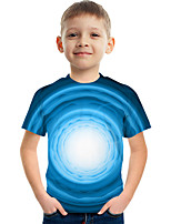 cheap -Kids Boys' Tee Short Sleeve Graphic Children Tops Active Blue