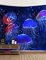 cheap -Tapestry Wall Hanging Art Deco Blanket Curtain Hanging Bedroom Living Jellyfish