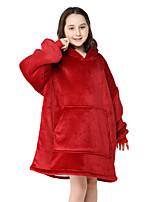 cheap -Kid's Kigurumi Pajamas Anime Onesie Pajamas Flannel Fabric Red Cosplay For Boys and Girls Animal Sleepwear Cartoon Festival / Holiday Costumes