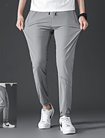 cheap -Men's Boys' Hiking Pants Trousers Solid Color Summer Outdoor Regular Fit Ultraviolet Resistant Quick Dry Breathable Stretchy Pants / Trousers Dark Grey Black Light Grey Hunting Fishing Climbing S M L