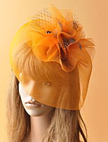 cheap -Elegant Retro Tulle Fascinators with Feather / Flower 1 Piece Party / Evening / Birthday Headpiece