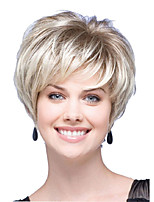 cheap -Synthetic Wig Natural Straight Layered Haircut Short Bob Wig Short Light Blonde Synthetic Hair Women's Party Fashion Comfy Blonde