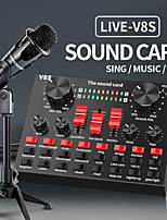cheap -Sound Card V8S Audio Mixer Bluetooth Webcast Personal Entertainment Streamer Live Broadcast for PC Computer